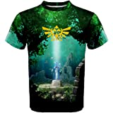 Legend of zelda lost woods Sublimation Full Print Trippy T Shirt Tees S-XL