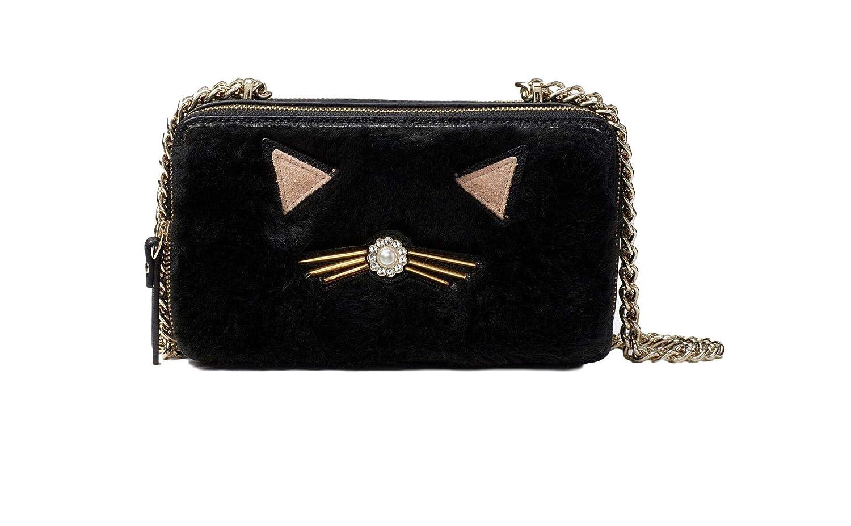 de54159d0620 Kate Spade New York Marigold Brighton Lane Black Cat Crossbody Bag Purse:  Handbags: Amazon.com