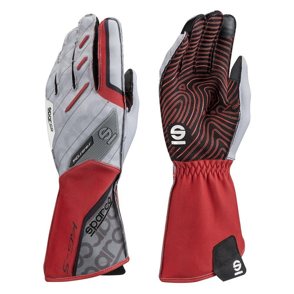 Sparco 00255209RS Guantes, Rojo, 09 S00255209RS