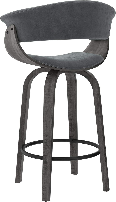 HOLT-26 Counter Stool-Velvet Grey
