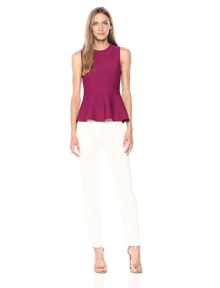 fc3ff9e7dc Amazon.com: Theory Women's Sleeveless Classic Peplum Top: Clothing