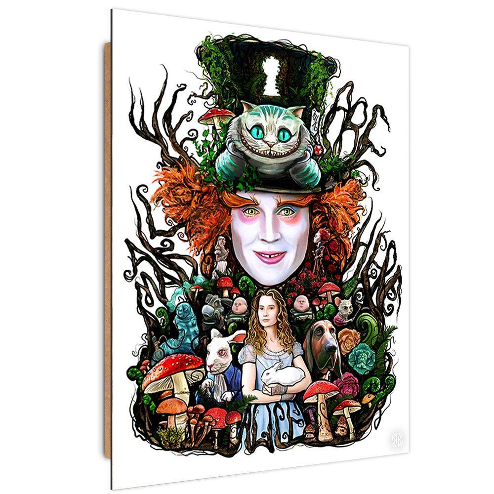 Feeby. Wandbilder - 1 Teilig- 70x100 cm - Bilder Kunstdrucke Deko Panel, Barrett Biggers - Filme Multicolour