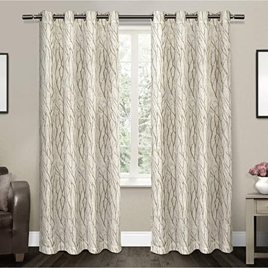 Amazon Com Exclusive Home Curtains Oakdale Sheer Textured Linen
