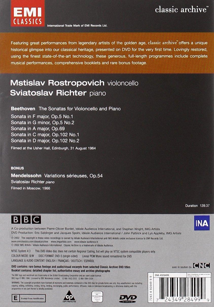 com beethoven cello sonatas nos rostropovich com beethoven cello sonatas nos 1 5 rostropovich richter mstislav rostropovich sviatoslav richter movies tv