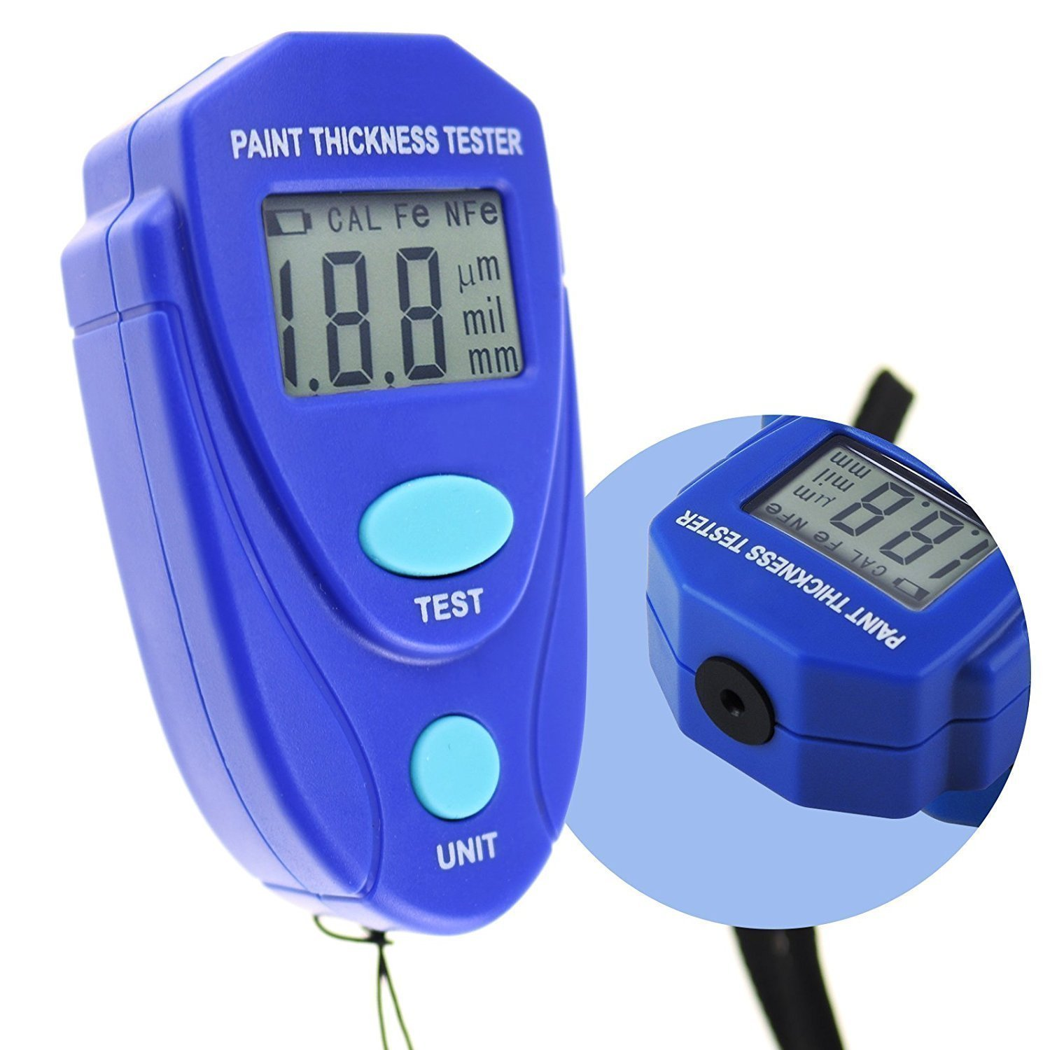 KKmoon Mini Digital Thickness Gauge with LCD Display Paint Thickness Gauge Tester Tool EM2271 for Car