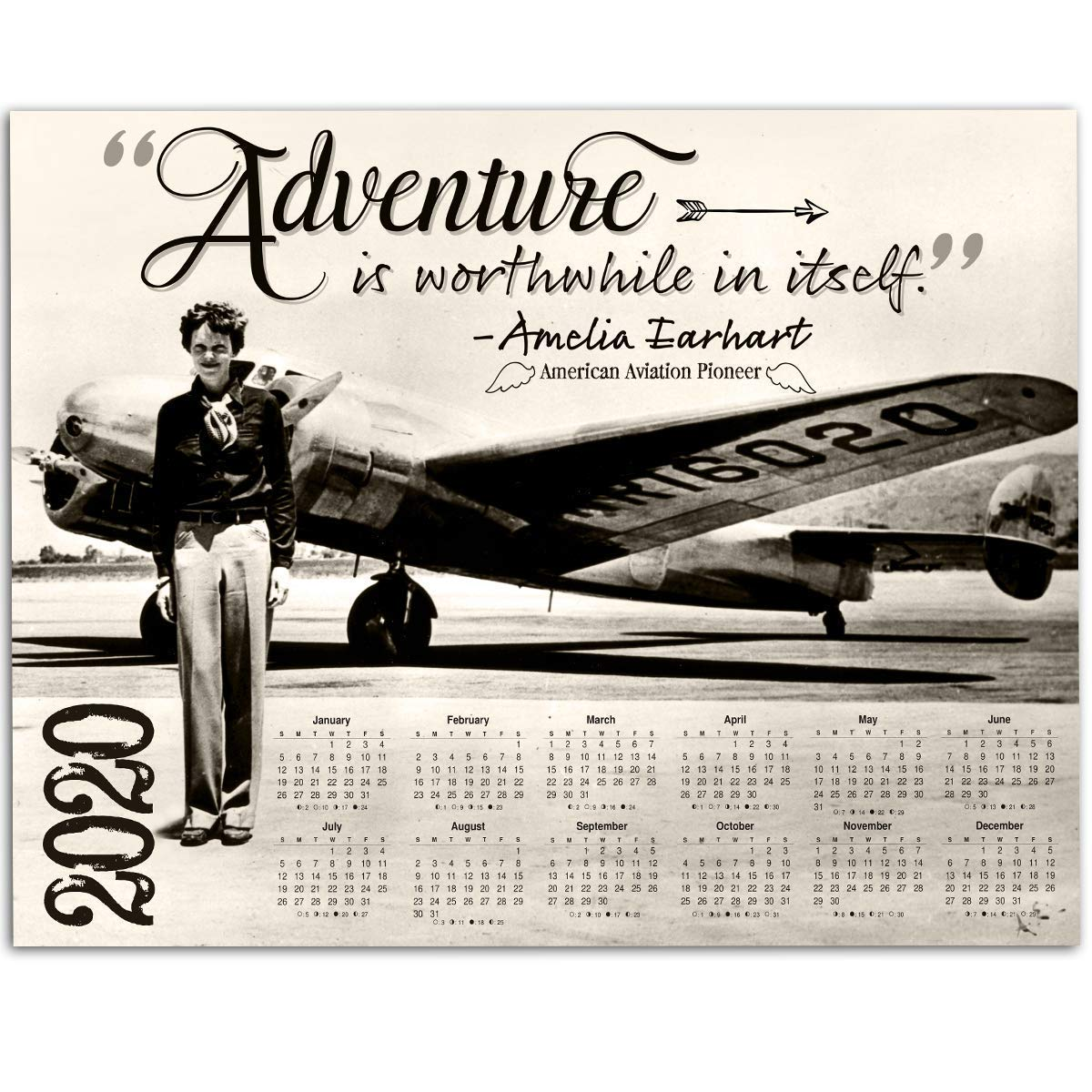 8 x 10 Photo of Amelia Earhart Aviation Art and Gifts