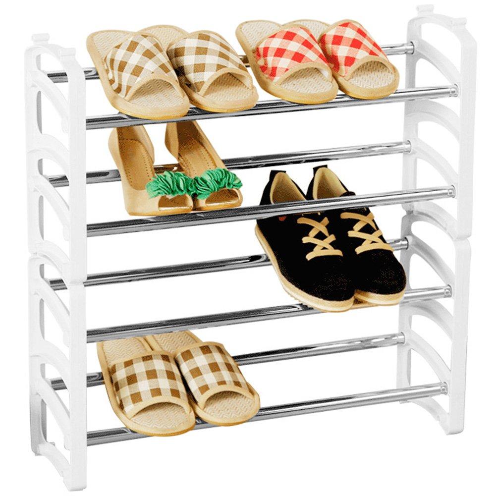 WENZHE Schuhregal Shoe Rack Schuhständer Schrank Schuhablagen Einstellbar Überlagerung Lager Kunststoff, 2 Modelle