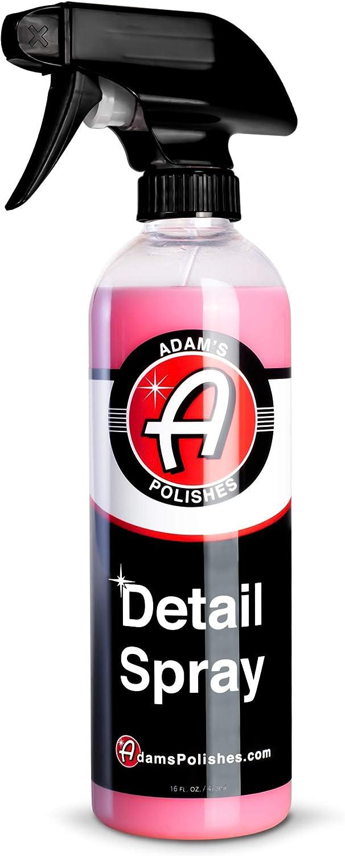 Adam's Detail Spray - Quick Waterless Detailer Spray for Car Detailing | Polisher Clay Bar & Car Wax Boosting Tech | Add Shine Gloss Depth Paint | Car Wash Kit & Dust Remover (16oz)
