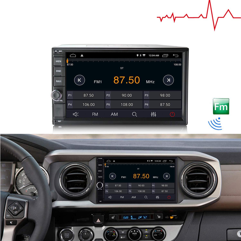 LEXXSON 2 DIN Autoradio Android Car Est/éreo con Mirror Link Bluetooth Pantalla t/áctil Est/éreo Soporte para coche USB FM Am RDS AUX Subwoofer