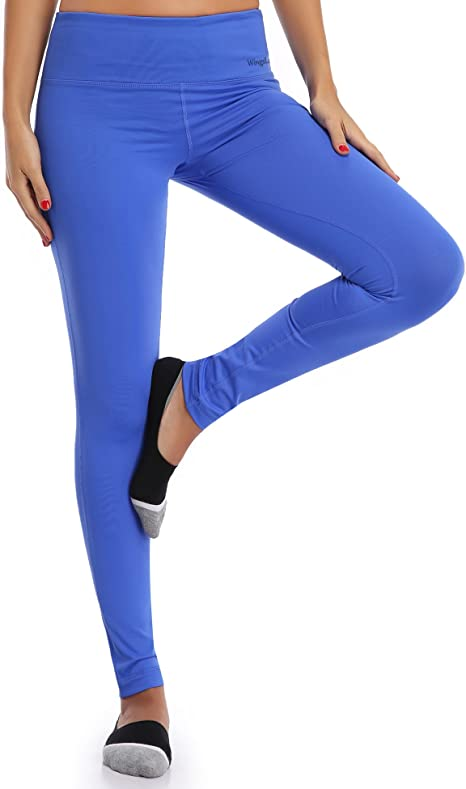 Wingslove Women Cotton Active Workout Athletic Capris Mid Rise Running Legging Yoga Pants
