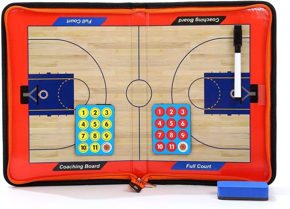 Magnetic Basketball Coaching Dry Erase Clipboard Tactical Board Marker Pen