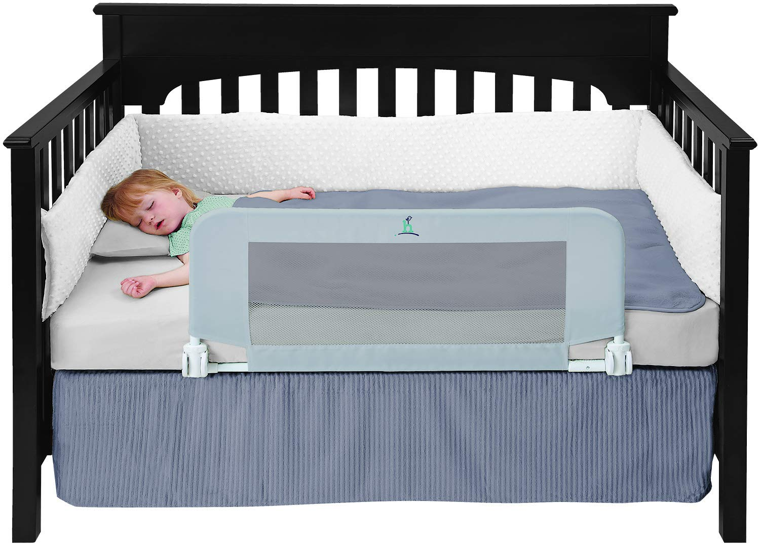 45521edee90 hiccapop Convertible Crib Toddler Bed Rail Guard with Reinforced Anchor  Safety product image