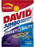 David Seeds Jumbo Sunflower, Sweet and Salty Flavor, 5.25 Ounce (Pack of 12)