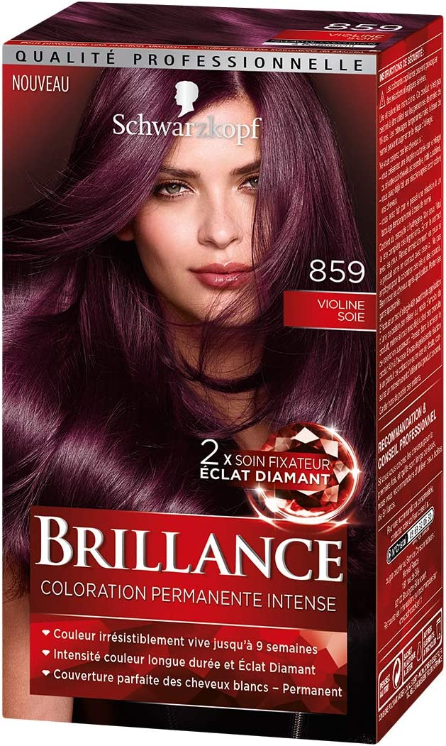 Schwarzkopf Brillance Coloration Cheveux Permanente Intense Violine Soie 859