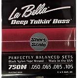 LaBella 750N-S Short Scale Deep Talkin' Bass Electric Guitar String Set - Black Nylon Tape Wound
