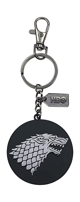 Game of Thrones- Llavero logo de metal Stark, Color plateado ...