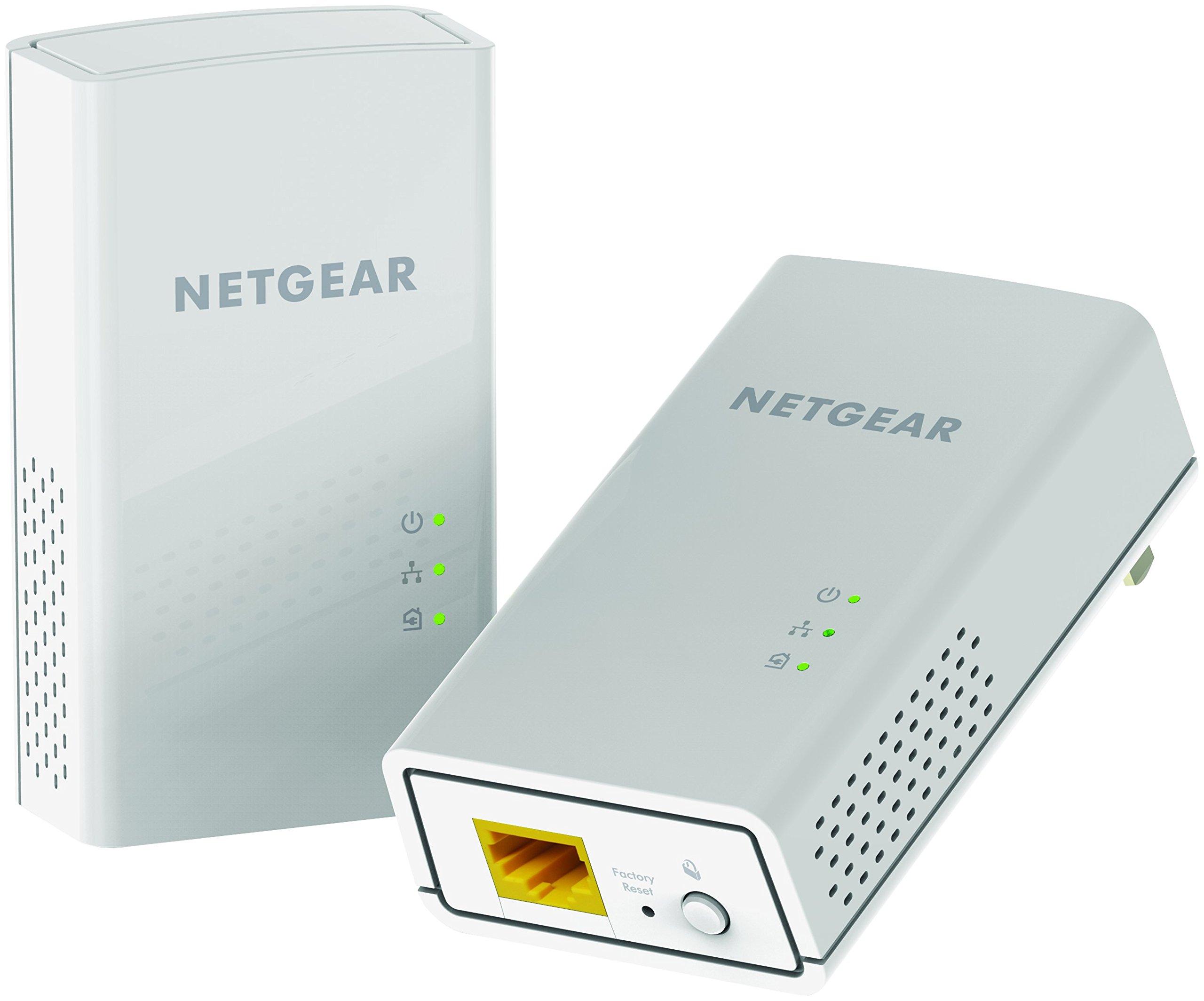 NETGEAR PowerLINE 1200 Mbps, 1 Gigabit Port (PL1200-100PAS) by NETGEAR