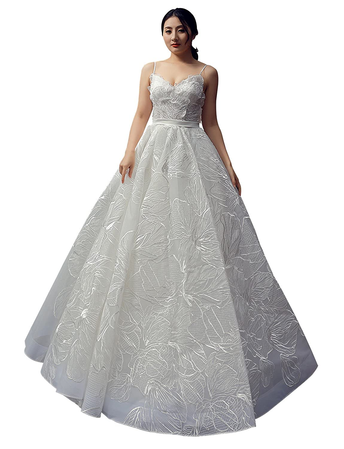 Erosebridal Lace Wedding Dress Bridal Gowns Spaghetti Straps Princess Ball Evening Formal For Women At Amazon Women's Clothing Store: Unique Wedding Dresses Princess Ball Gown At Websimilar.org
