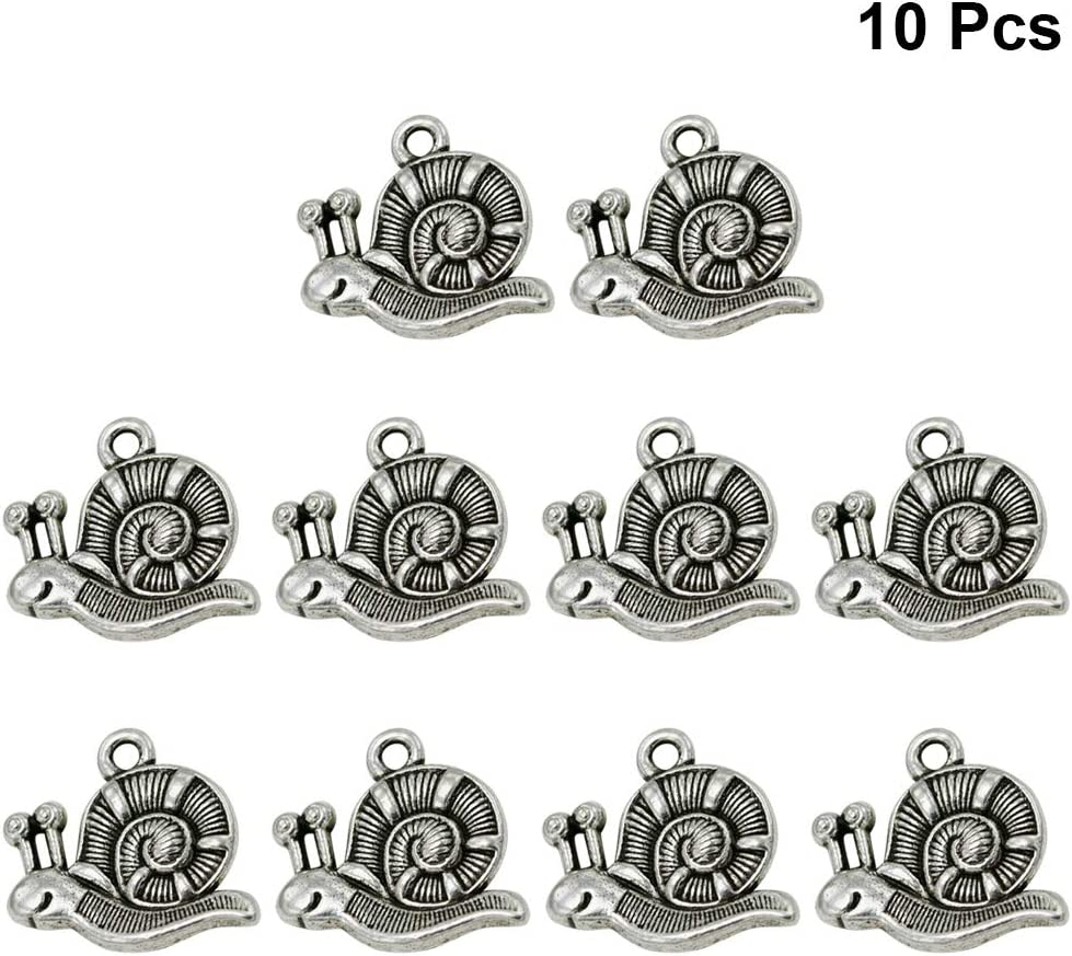 10Pcs Antique Silver Heart Key Charms Pendant for DIY Jewelry Making Findings