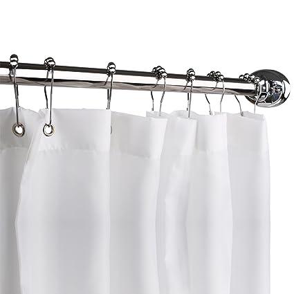 Amazon.com: Homitex Shower Curtain Mildew-Free Water-Repellent ...