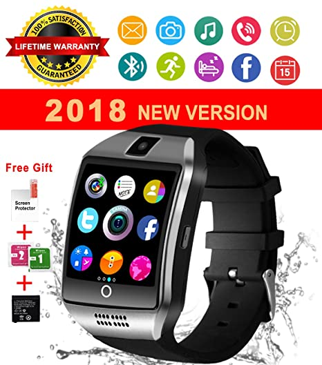 Reloj Inteligente Bluetooth, Impermeable Smart Watch con Camara, SIM/TF Ranura, Monitor