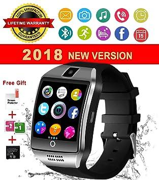 Reloj Inteligente Bluetooth, Impermeable Smart Watch con Camara, SIM/TF Ranura, Monitor de Sueño, Podómetro Fitness Tracker Pantalla Táctil Reloj ...