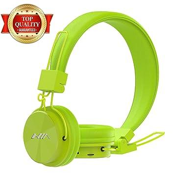 GranVela - Auriculares inalámbricos Bluetooth portátiles X3 Plegables clásicos con micrófono, Radio FM, Reproductor de micrófono, AUX para iPhone, ...