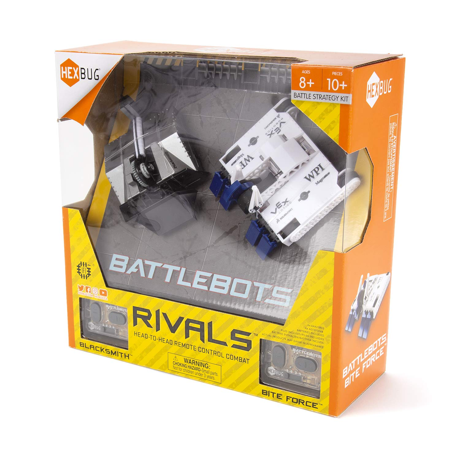 HEXBUG BattleBots Rivals 4.0 (Blacksmith and Biteforce) Toys for Kids, Fun Battle Bot Hex Bugs Black Smith and Bite Force by HEXBUG (Image #4)