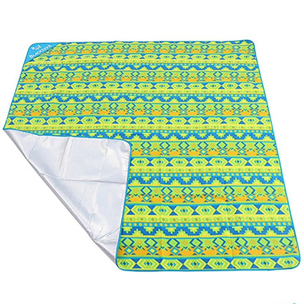 Outdoor Tragbare Aluminium Wasserdichte Pad Feuchtigkeits Pad Picknick Matte Strandmatte Dicke Zelt Doppelmatte (Farbe   Blau) B07D3TW9KB Picknickdecken Zuverlässige Qualität