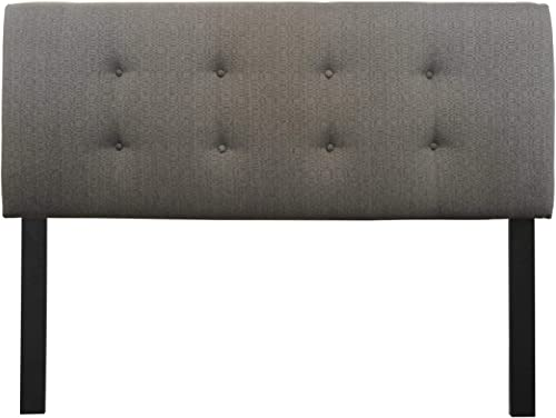 Sole Designs Ali Collection Padded Headboard Panel Hardwood Frame and 8 Button Tufted