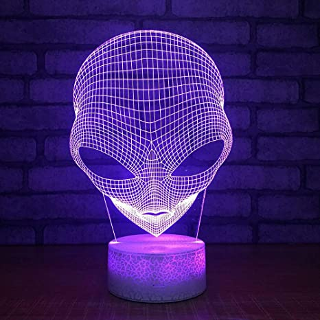 Gbbcd Night Light Aliens Colorful 3d Small Night Lights Led