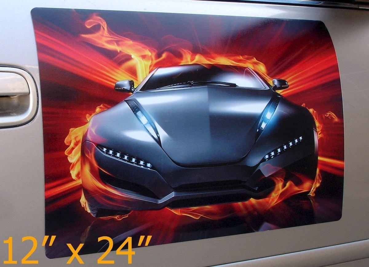 Amazoncom Qiagraphix Pcs Pair X Custom Car Magnets - Custom car magnets for sports