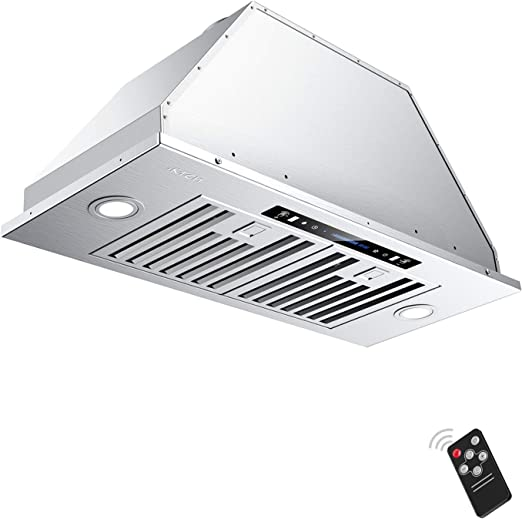 Stainless Steel 36 IKTCH Wall Mount Range Hood 36 inch Gesture Sensing /& Touch Control Switch Panel Kitchen Vent Hood 900 CFM 2 Pcs Lights Adjustable Ducted//Ductless Convertible Duct