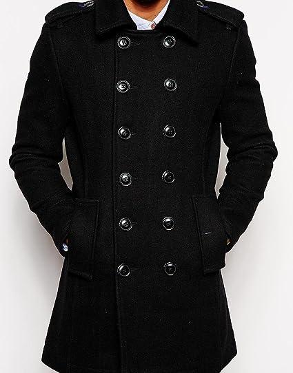 46201b230d Superdry Mens Bridge Coat Black New Royal (S)  Amazon.co.uk  Clothing