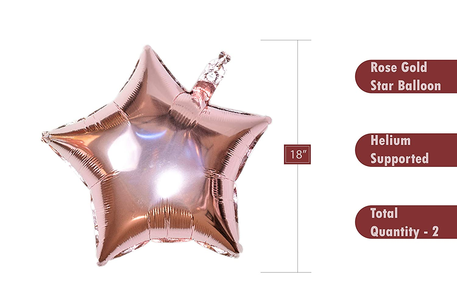 Balloon String ARZEMA Latex and Star foil Balloons Happy Birthday Letters for All Ages Rose Gold Party Decoration for Your Birthday Party Happy Birthday Balloons Banner
