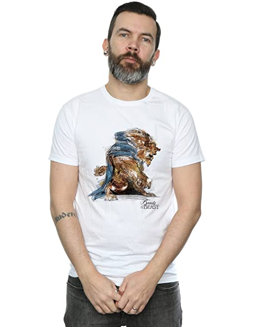 Disney Hombre Beauty and The Beast Beast Sketch Camiseta Sin Mangas