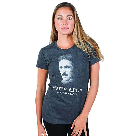 6f682450 Amazon.com: Headline Shirts Tesla: It's Lit Funny Graphic Screen ...