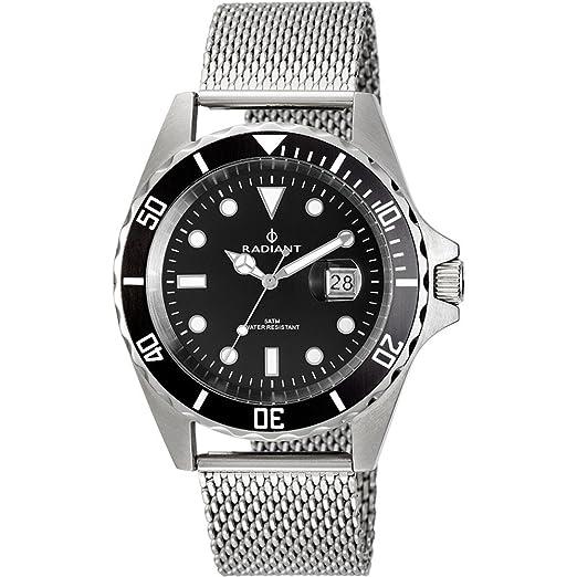 Reloj Radiant hombre New Navy Steel RA410207 [AB6263] - Modelo: RA410207: Amazon.es: Relojes