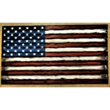 Merveilleux Wooden American Flag Decor Sign | Consists Of Thirteen, Individually Worn  Out Pieces Of Wood