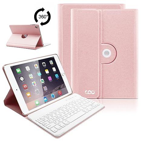 COO Funda con Teclado Español iPad Air 2 Bluetooth, 9,7 Cubierta con Teclado