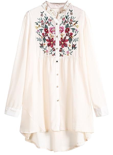 Sheinside - Camisas - para mujer aprikosenfarben talla única: Amazon.es: Ropa y accesorios