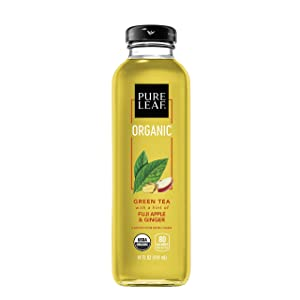 Pure Leaf Teahouse Collection, Organic Green Tea, Fuji Apple and Ginger, 14 Fl Oz