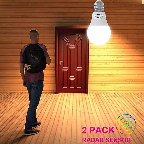 Motion Sensor Light Bulb 5w Radar Motion Detector Led Bulb E26 Base A19 Indoor Outdoor Smart Light Bulb 2700k Soft White For Garage Porch Stairs
