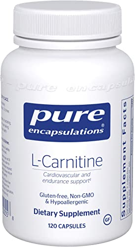 Pure Encapsulations – l-Carnitine – Hypoallergenic Supplement for Cardiovascular and Endurance Support – 120 Capsules