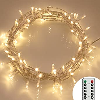 Outdoor Battery Operated String Lights With Timer: [Remote and Timer] 40 LED Outdoor Fairy Lights - 8 Modes Battery Operated  String,Lighting