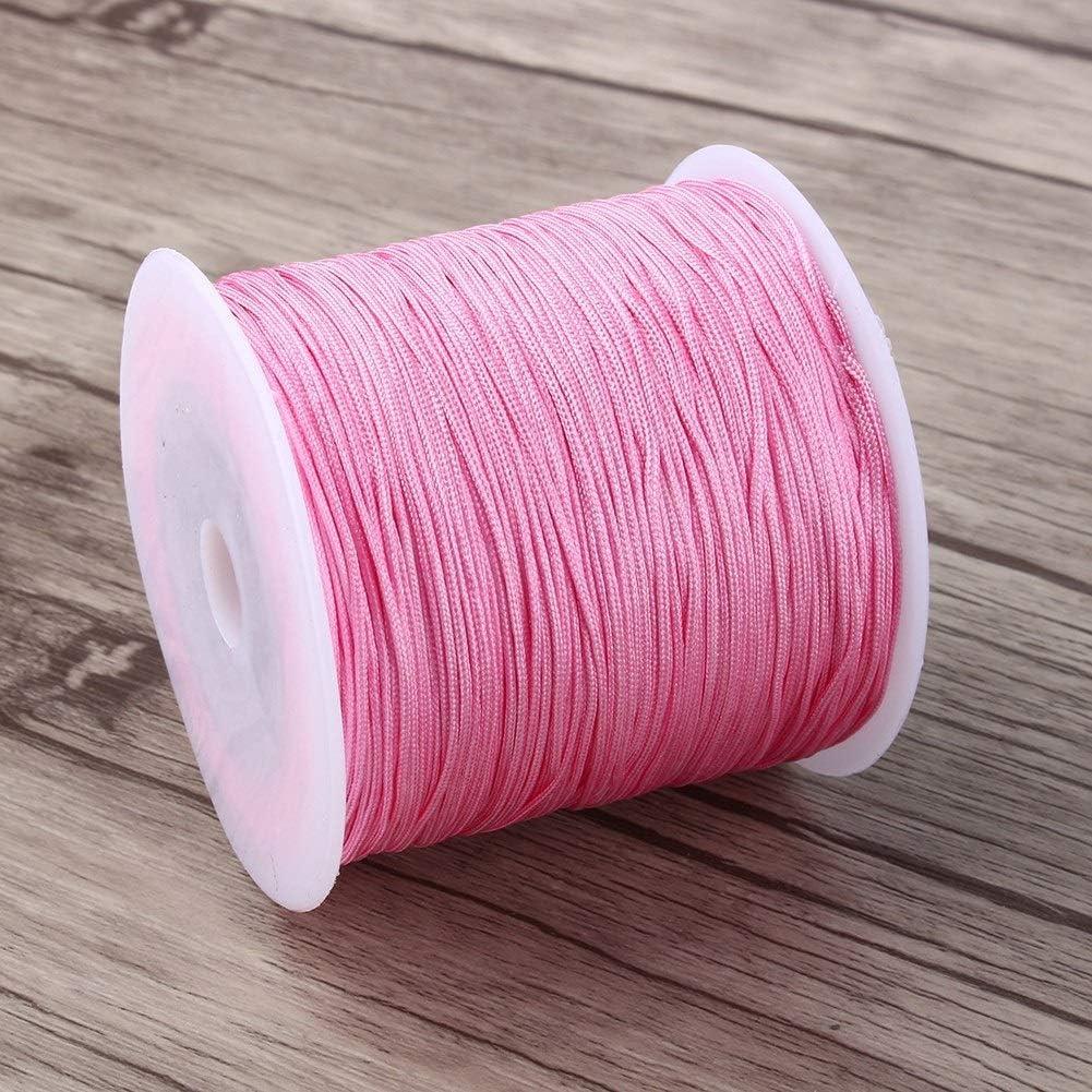 Color : Golden Cuerda de Hilo de Nudo Chino Cola de Rat/ón Macram/é Shamballa Cuerda de Hilo 100m x 0.8mm 10colors Usted Puede Elegir.