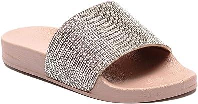 Slider Womens Sparkle Diamante Flip