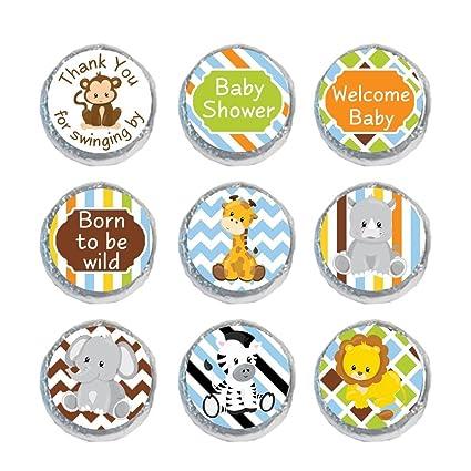 Buy Digitaldoodlebug Mini Candy Stickers Baby Shower Favors Safari