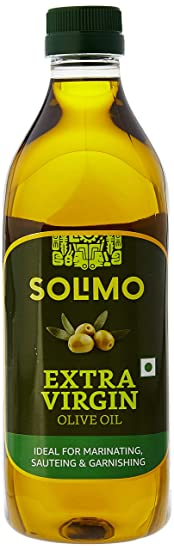 Amazon Brand - Solimo Extra Virgin Olive Oil, 1L