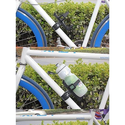 lmeno – Portabotellas para bicicleta ajustable, montaje por tensor ...